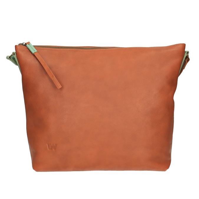 Kožená Crossbody kabelka weinbrenner, hnědá, 964-3201 - 26