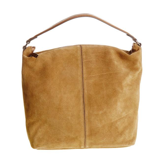 Kožená kabelka v Hobo stylu bata, hnědá, 963-3129 - 26
