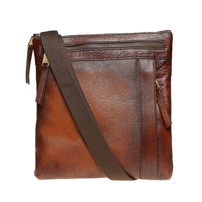 Pánská kožená Crossbody taška bata, hnědá, 964-4138 - 26