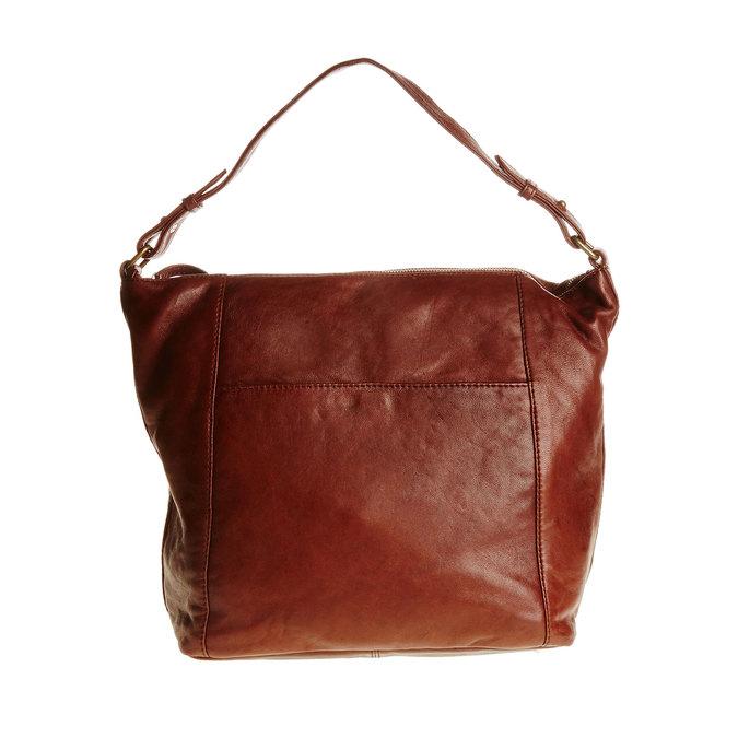 Kožená kabelka v Hobo stylu bata, hnědá, 964-4192 - 26