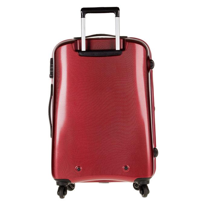 Skořepinový kufr na kolečkách carlton, červená, 960-5102 - 26