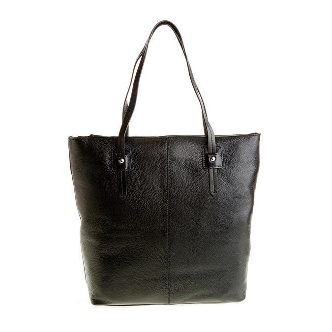 Dámská kožená kabelka bata, černá, 964-6177 - 26