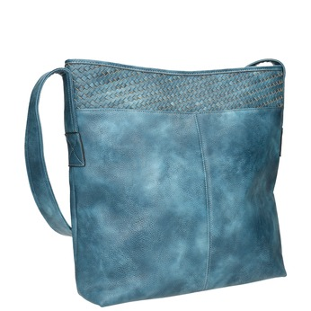 Prostorná modrá kabelka s dlouhým uchem bata, modrá, 961-9600 - 13