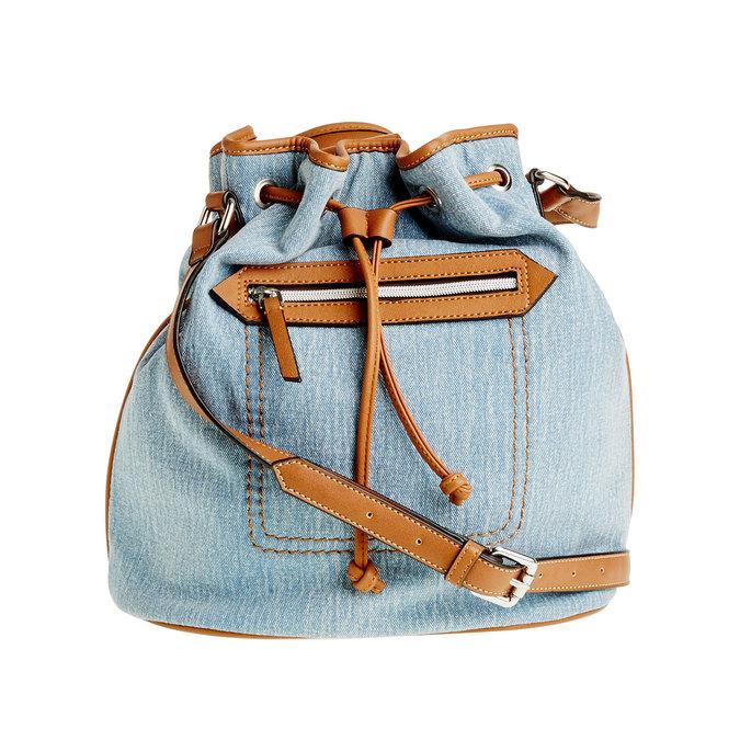 Kabelka v Bucket stylu bata, modrá, 969-9403 - 26