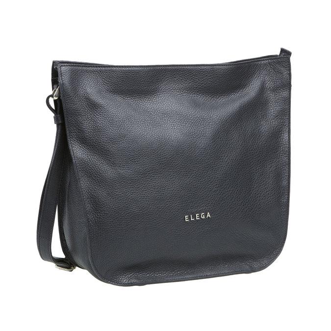Kožená kabelka elega, černá, 964-6149 - 13