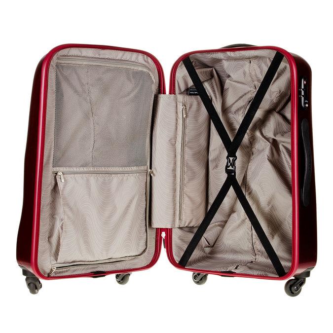 Skořepinový kufr na kolečkách carlton, červená, 960-5102 - 15