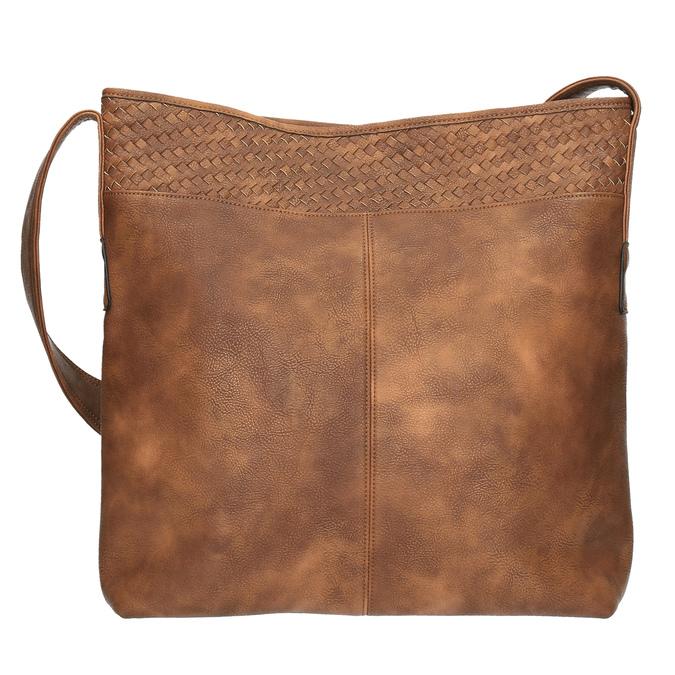 Prostorná kabelka s dlouhým uchem bata, hnědá, 961-3600 - 19