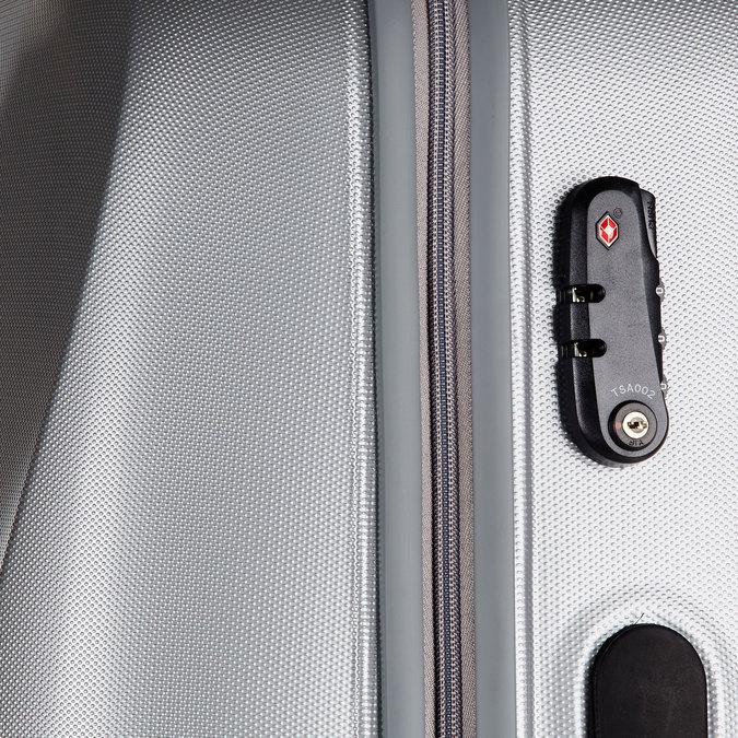 Skořepinový kufr na kolečkách carlton, šedá, 960-2103 - 17