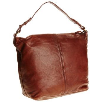 Kožená kabelka v Hobo stylu bata, hnědá, 964-4192 - 13