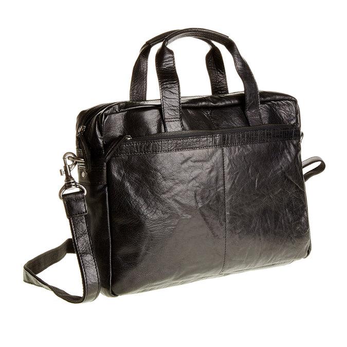 Kožená brašna bata, černá, 964-6153 - 13