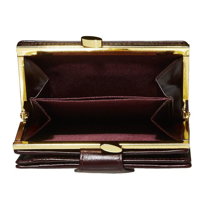 Kožená dámská peněženka bata, červená, 944-5116 - 17