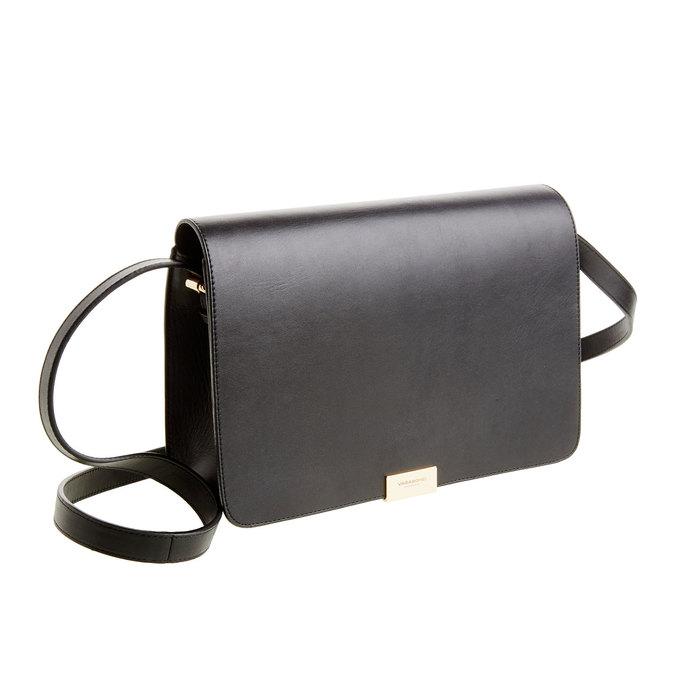 Kožená Crossbody kabelka vagabond, černá, 964-6097 - 13