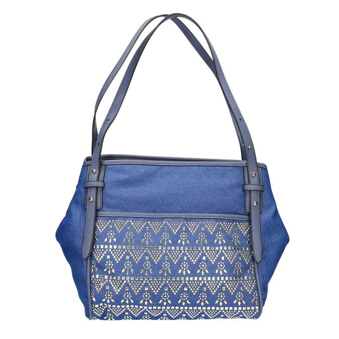Dámská modrá kabelka bata, modrá, 969-9453 - 19