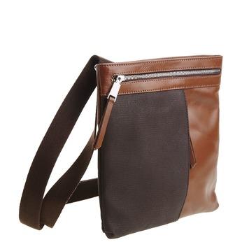 Pánská kožená Crossbody taška bata, hnědá, 964-4184 - 13