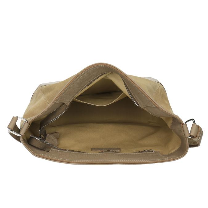 Kožená kabelka s nastavitelným popruhem weinbrenner, béžová, 963-8190 - 15