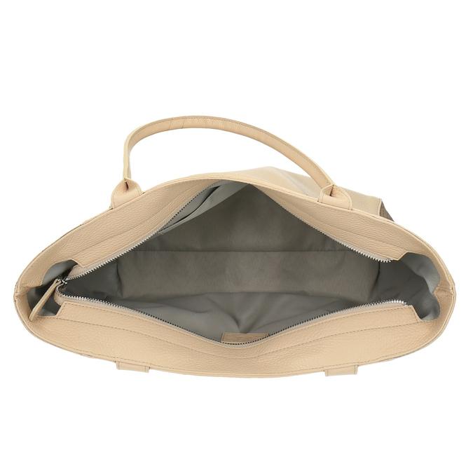 Kožená shopper kabelka bata, béžová, 964-3191 - 15