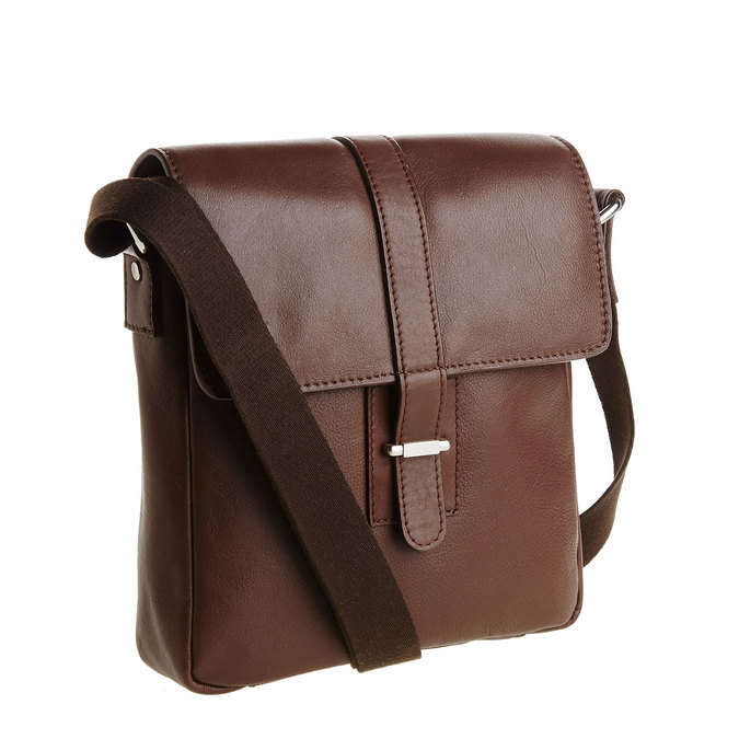 Pánská kožená taška přes tělo bata, hnědá, 964-4181 - 13