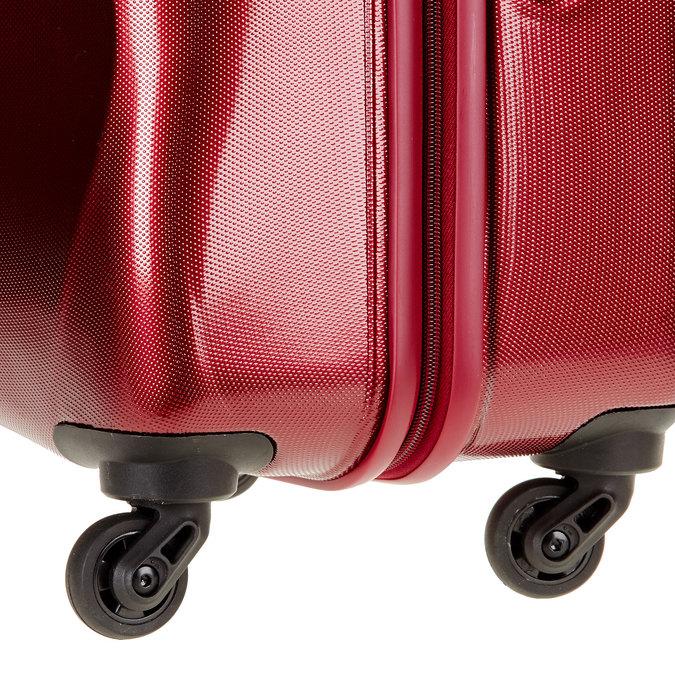 Skořepinový kufr na kolečkách carlton, červená, 960-5102 - 19
