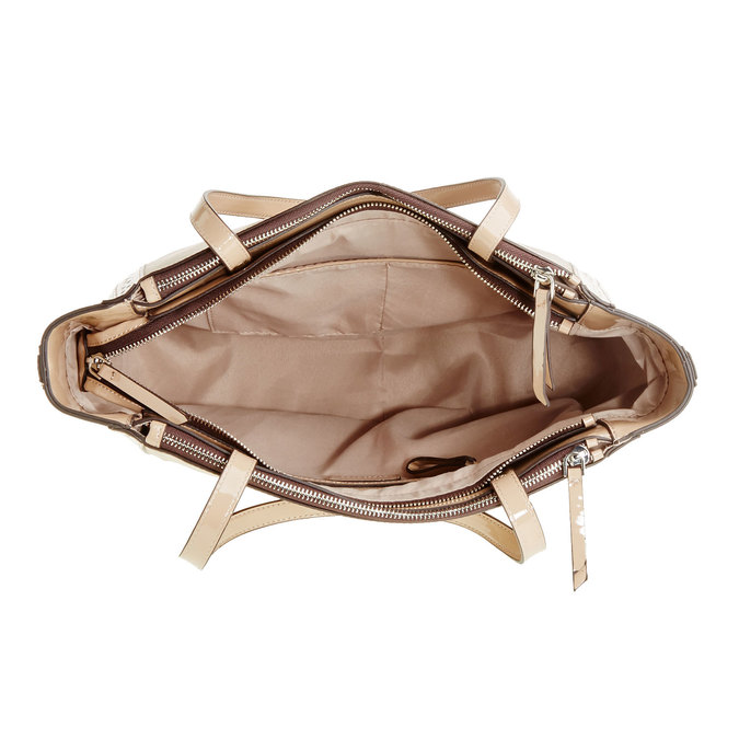 Dámská kabelka s lesklými prvky bata, béžová, 969-8315 - 15