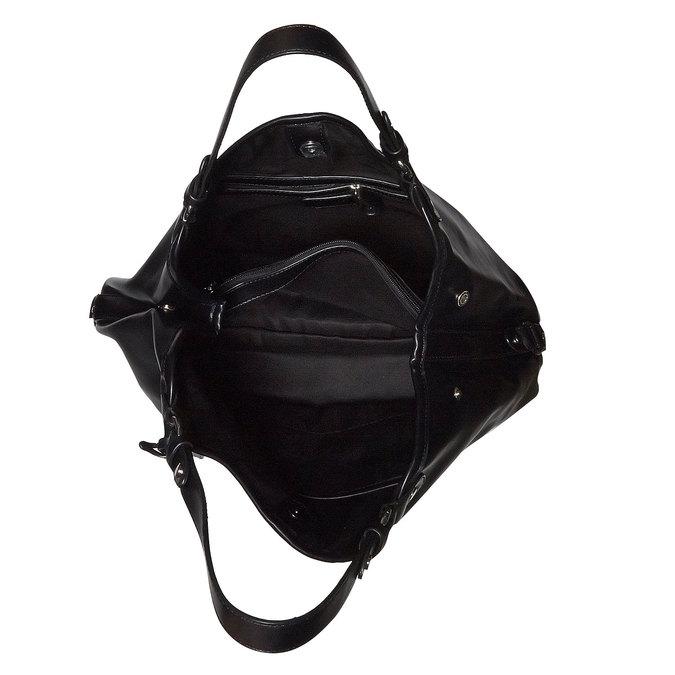 Kabelka v Hobo bag stylu bata, černá, 961-6185 - 15