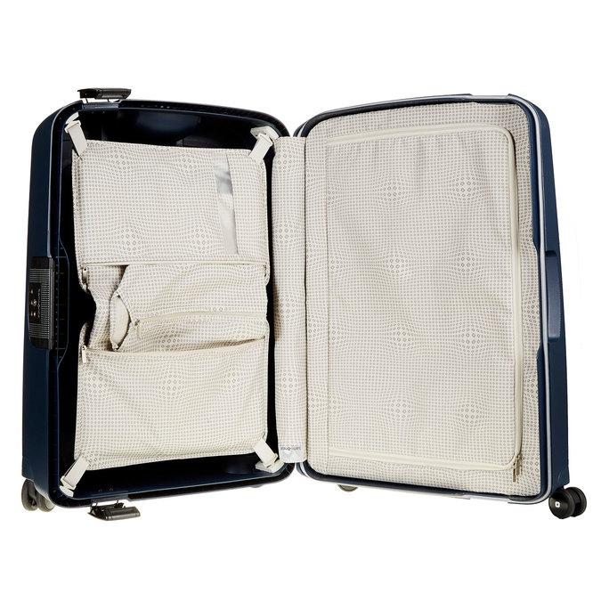 Kvalitní skořepinový kufr samsonite, modrá, 960-9322 - 15