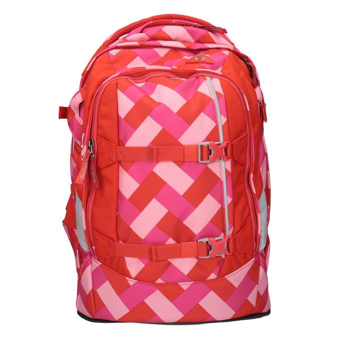 Dívčí školní batoh satch, červená, 969-5088 - 19