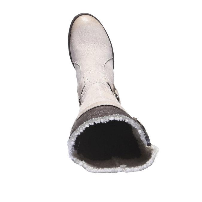 Kožené kozačky s přezkami bata, 596-1101 - 19