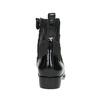 Kožená kotníčková obuv s pružením geox, černá, 514-6030 - 17