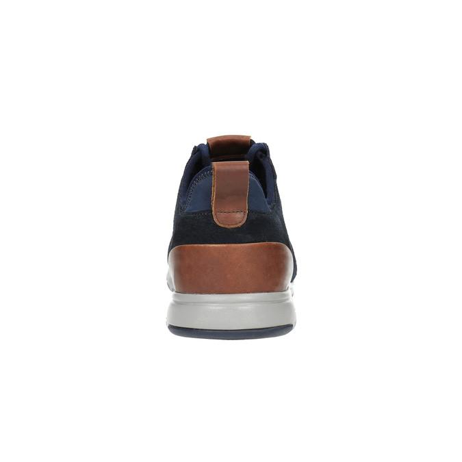 Kožené tenisky s prodyšnou podešví geox, modrá, 823-9035 - 17