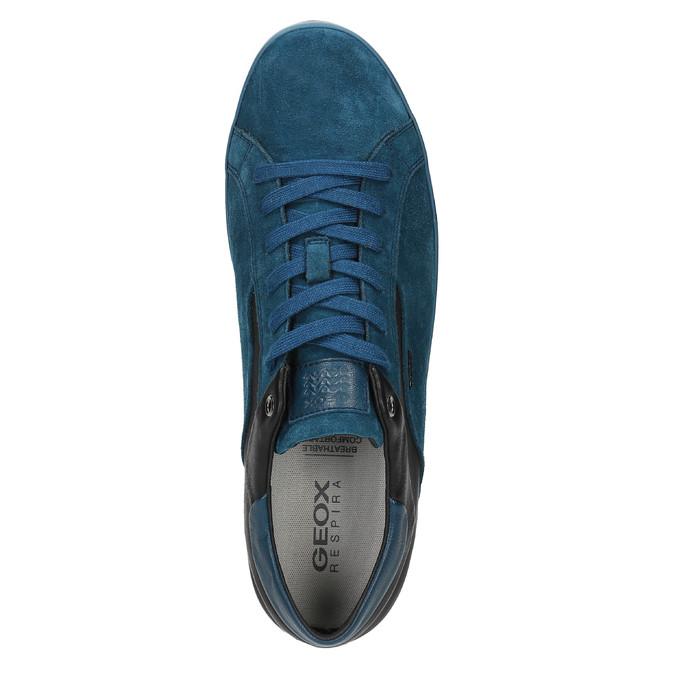 Kožené tenisky s prodyšnou podešví geox, modrá, 823-9032 - 19