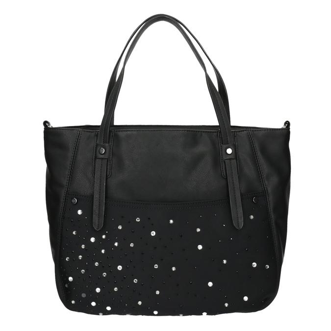 Dámská kabelka s kamínky bata, černá, 961-6247 - 19