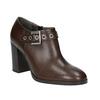 Kožené polobotky na širokém podpatku bata, hnědá, 794-4636 - 13