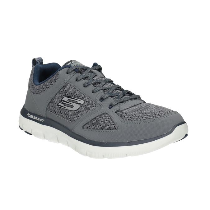 Pánské sportovní tenisky šedé skechers, šedá, 809-2349 - 13