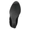 Dámská kotníčková obuv na klínovém podpatku bata, černá, 799-6631 - 26