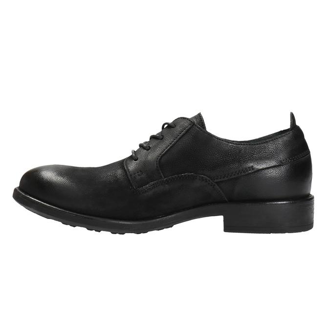 Kožené polobotky v ležérním designu bata, černá, 826-6732 - 26
