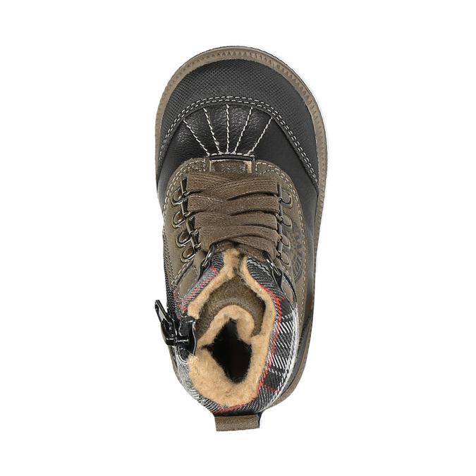 Dětská kotníčková obuv bubblegummer, hnědá, 191-6613 - 19