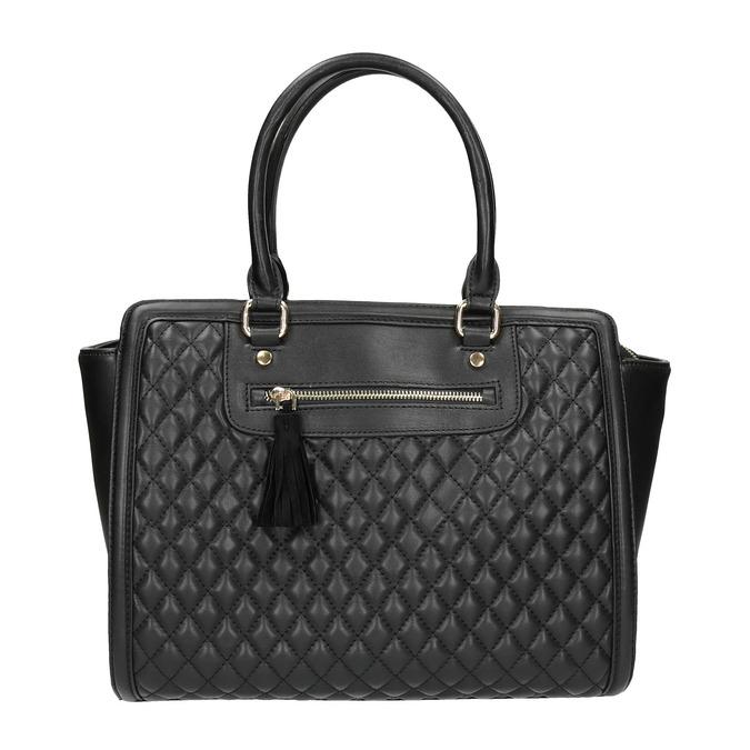 Shopper kabelka s prošíváním a střapcem bata, černá, 961-6287 - 26