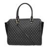 Shopper kabelka s prošíváním a střapcem bata, černá, 961-6287 - 19