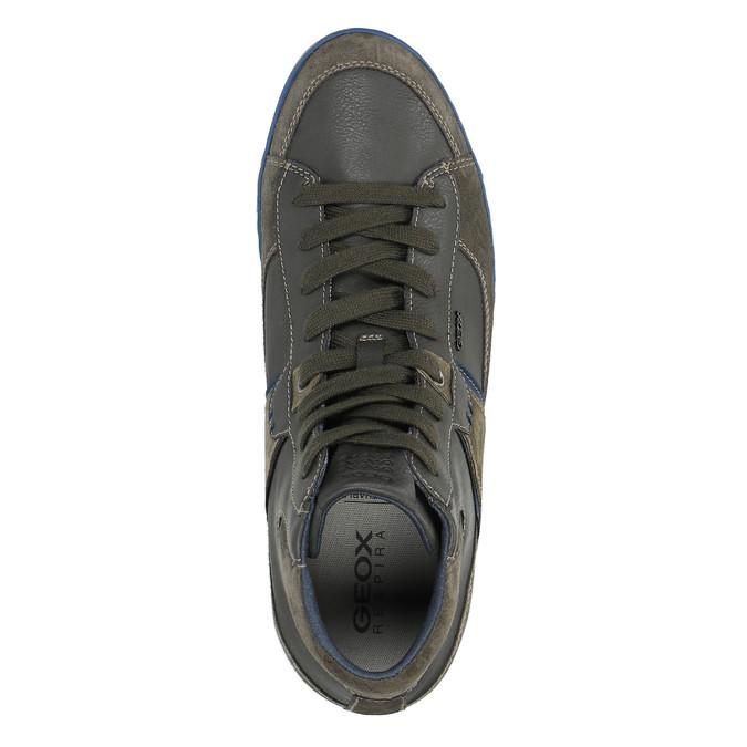 Kožená kotníčková obuv s prodyšnou podešví geox, hnědá, 823-4034 - 19
