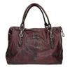 Kožená kabelka s kovovými detaily a-s-98, červená, 966-5020 - 26