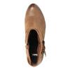 Kožené kotníčkové kozačky ve Western stylu bata, hnědá, 696-4610 - 19