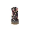 Dívčí kotníčková obuv s květinovým vzorem mini-b, černá, 321-9600 - 17