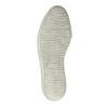 Kožená kotníčková obuv na široké podešvi bata, fialová, 596-5625 - 26
