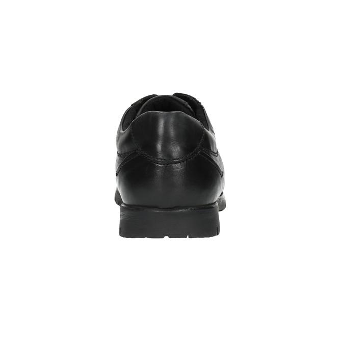 Ležérní kožené polobotky černé bata, černá, 826-6652 - 17