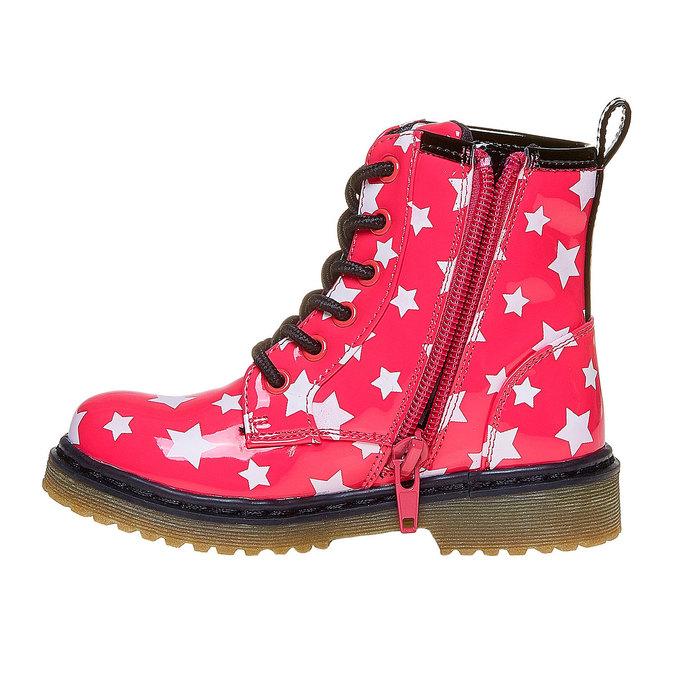 Dětská kotníčková obuv s hvězdičkami mini-b, růžová, 291-5159 - 19
