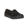 Dětská flitrovaná slip-on obuv mini-b, černá, 329-6229 - 13