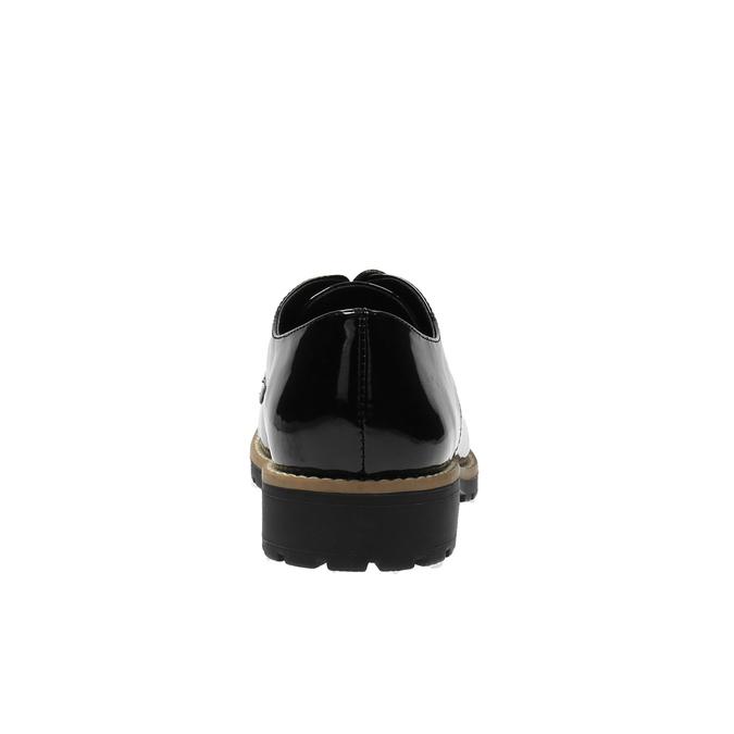 Lakované polobotky na výrazné podešvi bata, černá, 521-6600 - 17