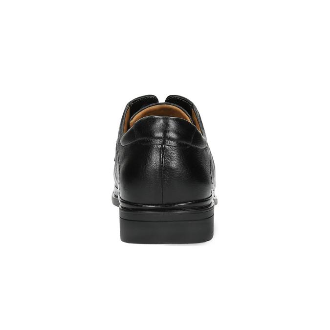 Pánské kožené polobotky comfit, černá, 824-6717 - 17