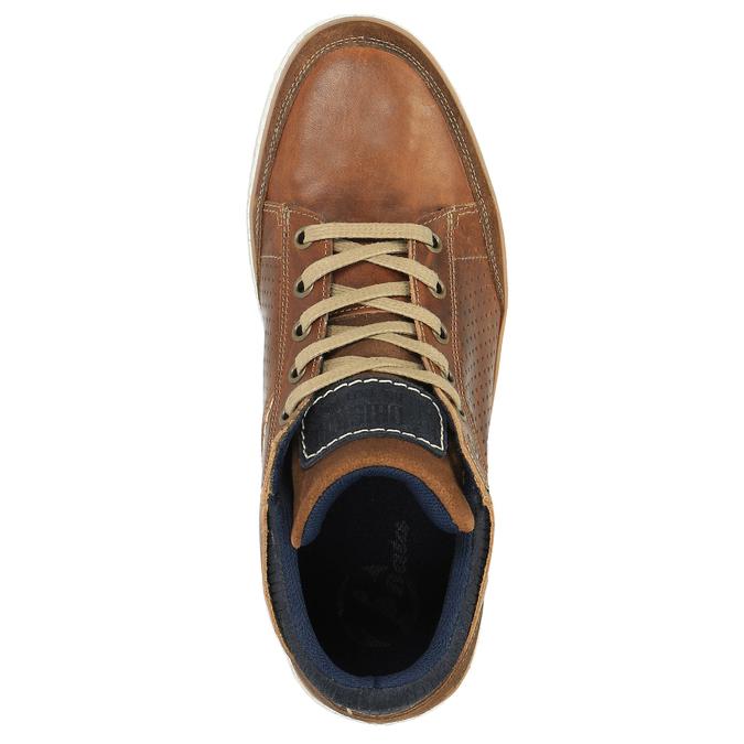 Kožené kotníčkové tenisky bata, hnědá, 844-4621 - 19