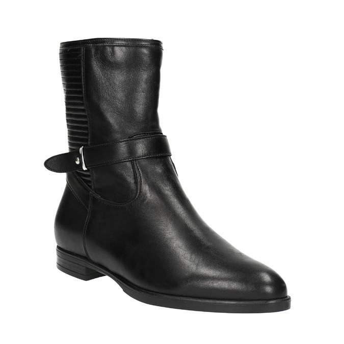 Dámská kotníčková obuv s prošíváním bata, černá, 594-6616 - 13